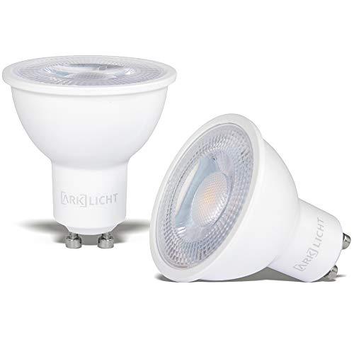 ARK LICHT | 2er-Pack MR16 GU10 LED Lampe | CRI 95+ | Tageslicht | 6.6W | 600lm | 2700K Warmweiß | Dimmbar | 2 Jahre/20.000 Std Garantie | Flimmerfrei | ersetzt 70W | 45° Winkel