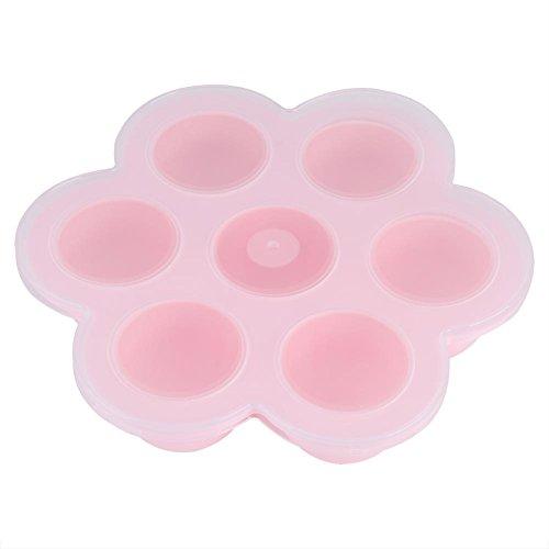 Récipient Nourriture Bébé Congélation Moule Silicone Qualité Alimentaire Bac Congélateur Résistant à La Chaleur de -40 ℃ ~ 240 pour Lait Maternel Jus Gateau Moule pour Bonbons Plateau Bébé (Pink)
