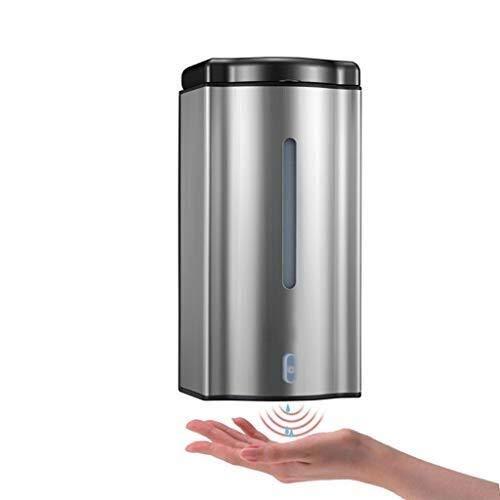 LBYMYB Dispensador de jabón automático sin contacto Dispensador de jabón de acero inoxidable de mano Sensor de movimiento infrarrojo montaje en pared 600ML dispensador de jabón