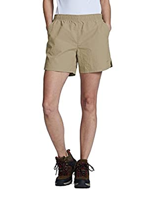 BALEAF Women's Hiking Shorts Quick Dry Lightweight Zipper Pockets Deep Khaki Size XL