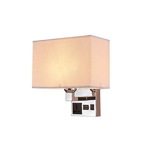 Lámpara de pared suave y simple, USB resistente y estable, adecuada para el dormitorio de un hotel en el salón.