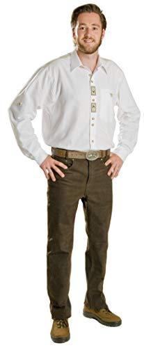 La Chasse Nubuk-Lederhose für Damen extrem strapazierfähige Jagdlederhose Nubuklederhose Trachtenhose Rindslederhose Jagdhose braun oder Oliv/grün Nubukhose (36, Braun)