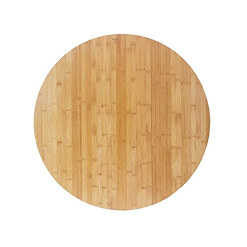 """ActiveAnnie Large 30"""" inch Bamboo Lazy Susan Turntable Rotating Dining Table Top-Round Wooden Serving Tray for Wine-Platform for Board Games & Decorative Kitchen Countertop for Wedding & Home Gift"""