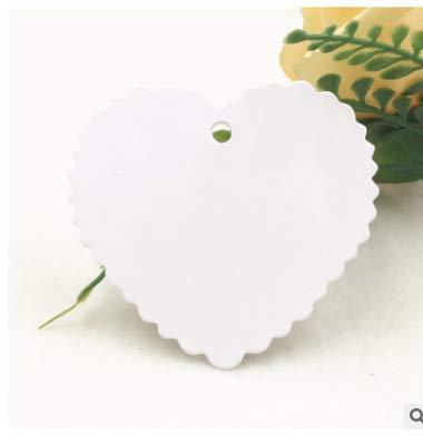 Etiquetas de Carton,200 Pack Etiquetas de Papel Kraft Forma de Corazón Etiquetas de Regalo para Boda San Valentín...