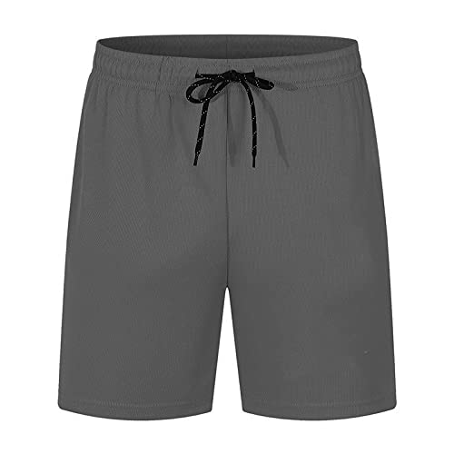 YUZHUKUNGMZNSDK pantalones Cortos Hombre, Pantalones cortos para hombres Malla de verano Aire acondicionado Pantalones sueltos cortocircuitos de secado rápido Cinco puntos Pantalones de cinco puntos S