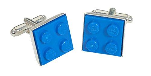 Handgemachte blau flache Letgo Manschettenknöpfe einzigartige ungewöhnliche Geschenkidee.