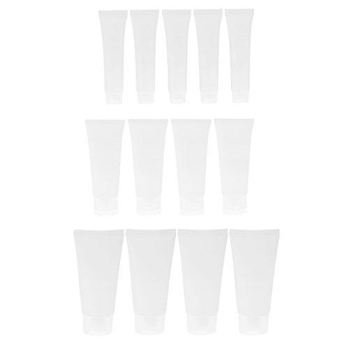 perfeclan 15pcs 15ml 50ml 30ml Tubes Vides Crème Cosmétique Conteneurs en Plastique pour DIY Tube de Lustre à Lèvres