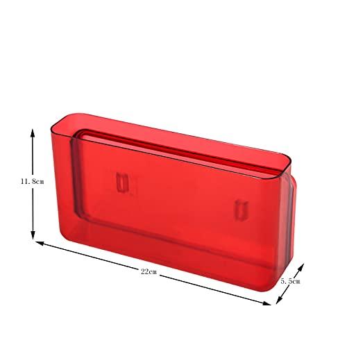 Anyer El Cuadro de clasificación de la Caja de Almacenamiento y clasificación de Las clasificaciones es Adecuado para Sala de Estar, Cocina y baño, Caja de Almacenamiento de Pared sin uñas,Rojo
