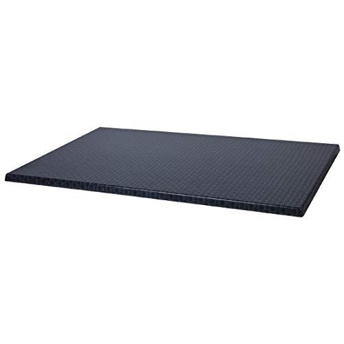 Werzalit Plus Ca999 rectangulaire Dessus de table, 1100 mm, Rotin Anthracite
