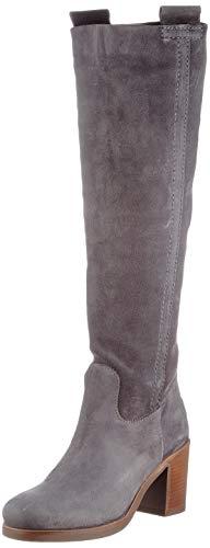 Shabbies Amsterdam Damen SHS0256 Boot HIGH 7.5 cm Waxed Suede, Dark Grey, 39 EU