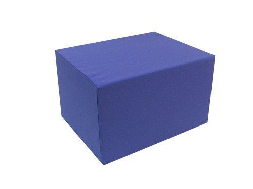 Bequemer Sitzwürfel Bandscheibenwürfel zur Lagerung + Sitzen Maße: 55 x 45 x 35cm (Kunstleder Standard grau)