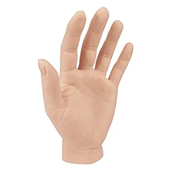 Silicone Tattoo Practice Hand Life Sized Fake Skin Hand Model to Tattoo Training Education for Experienced Tattoo Artists and Beginners  Left Hand