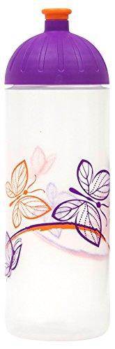 ISYbe Original Marken-Trink-Flasche für Kinder und Erwachsene, 700 ml, BPA-frei, Schmetterling-Motiv geeignet für Schule-Reisen-Sport & Outdoor, Auslaufsicher auch mit Kohlensäure, Spülmaschine-fest