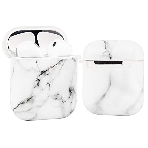 Imikoko TPU hülle Kompatibel mit Apple AirPods Hülle 1 & 2, AirPods 1 & 2 Case Marmor Muster Stoßfeste Schutzhülle für Apple AirPods Earpods Ohrhörer-Ladetasche