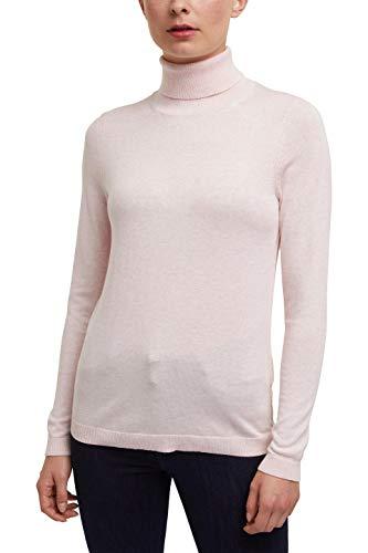 edc by ESPRIT Damen 090CC1I301 Pullover, Rosa (690/LIGHT PINK), L