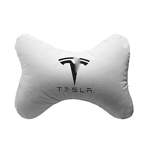 QIEP Car Headrest Pillow Car Pillow For Driving Seat With Adjustable Strap For Tesla Model 3 S X