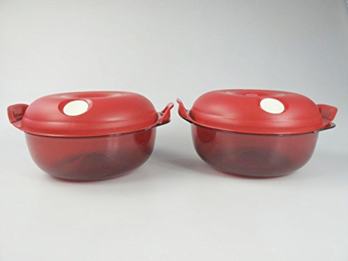 TUPPERWARE Microserver Redondo de 1,5 L rojo (2)
