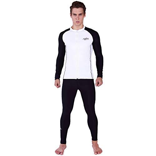ZUKN Neoprenanzüge für Herren Langarm-Tauchanzüge Sunblock Anti-UVJellyfish Kleidung Schnelltrocknend Badeanzug in Übergröße zum Tauchen, Surfen, Schnorcheln,5XL