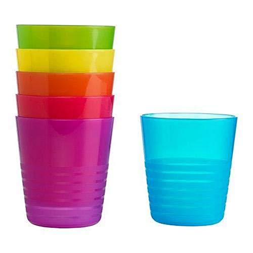 Ikea Kalas 101.929.56 BPA-Free Tumbler, Assorted Colors, 6 Count, 1- Pack
