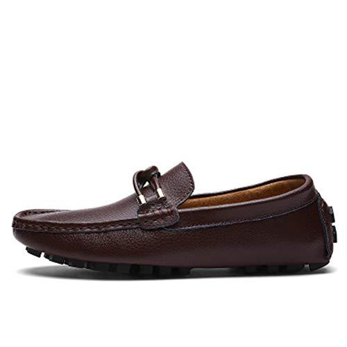 Zhang Herren Lederschuhe Frühling/Herbst/Winter Geschäfts/Casual Tages Party & Evening Außen Loafers & Walking-Schuhe Non-Slipping Wear Proof,Braun,42