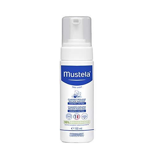 Shampoo Recém-Nascido, Previne e Elimina a Crosta Láctea, Mustela Bebê, Azul, 150Ml