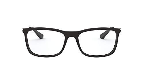 Ray-Ban 0rx 7029 2077 55 Monturas de Gafas, Matte Black, Hombre