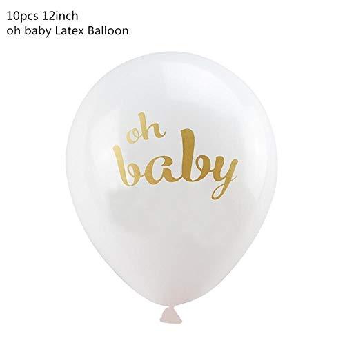 Children's partij decoratie ballon decoratie verjaardagsfeest,Oh baby 10st,een afmeting