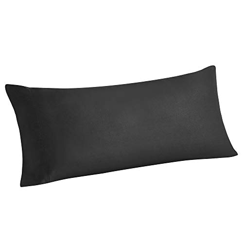 BEDELITE Bamboo Cooling Long Pillow Cases, Black Body Pillow Pillowcase Breathable and Ultra Soft from 100% Natural Silky Bamboo Viscose, Cool Pillow Cases for Hot Sleepers, Night Sweats(20x54 Inches)