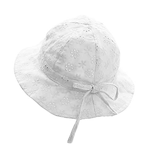Bonito sombrero de encaje para bebé con lazo, de algodón, reversible, para pescador, plegable, de ala ancha, ideal para niños, niñas, viajes, playa, camping, fiesta en la piscina