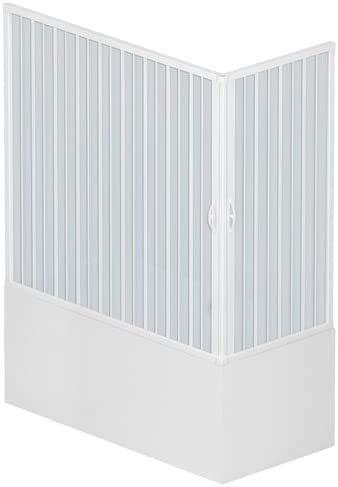 Box Vasca a Soffietto Liberte' 70x170 H. 150 cm in PVC a due lati con due ante ad Apertura angolare colore Bianco