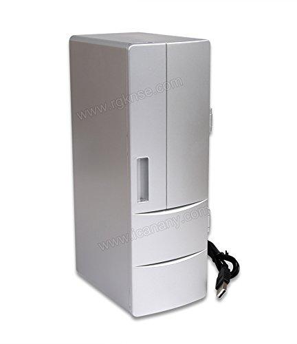Fridge RUIRUI draagbare praktische mini-USB-koelkast kantoor desktop PC auto koelkast vriezer drinken kan koelen.
