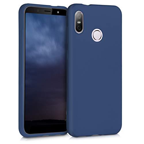 kwmobile Hülle kompatibel mit HTC U12 Life - Handyhülle - Handy Hülle in Marineblau