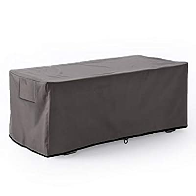 Leader Accessories Waterproof Deck Box/Storage Ottoman Bench Cover for Keter/Lifetime/Suncast/Rubbermaid Deck Box L-Size