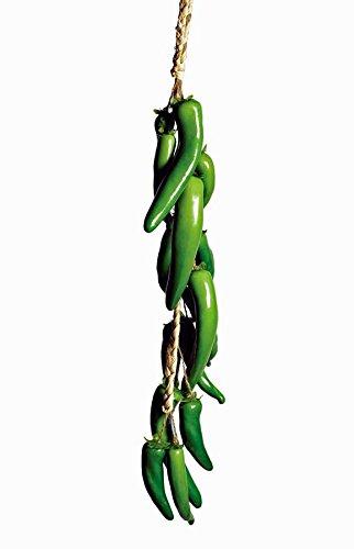 Mega Ceramics Girlande Chilli grün L 58 cm Dekohänger Raumdeko Küchendeko Fensterkette