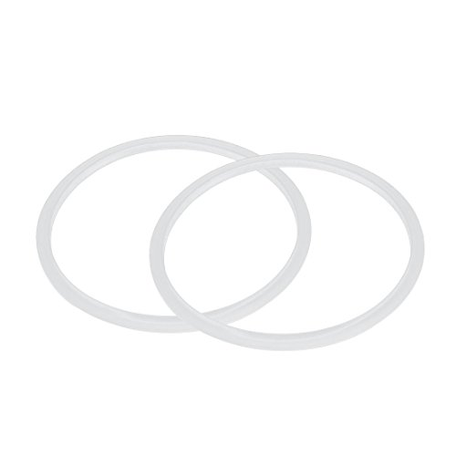 TOPSALE Silikon-Dichtung Dichtungsring Fuer Schnellkochtopf 22 cm Innendurchmesser, 2 Stueck, transparent