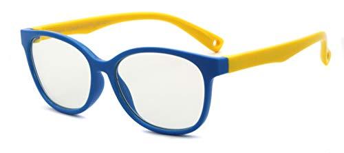 Global Glasses Gafas Infantiles de Bloqueo de Luz Azul para Ordenadores Gafas de Juego de Lentes Antirreflejos y Ligeros Protección de Ojos para Niños y Niñas