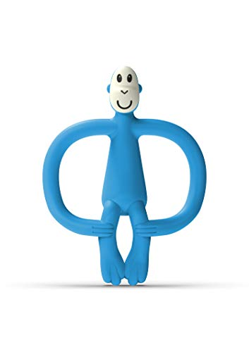 Matchstick Monkey Original Juguete de Dentición Mono, Azul (Blue), 6-18 Meses