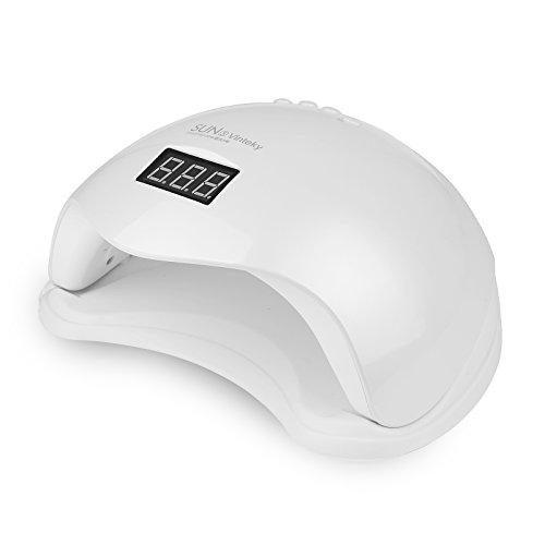 Vinteky Lampada LED unghie professionale 48W con Sensore Automatico 4 Timer Preimpostati 10s, 30s, 60s, 99s