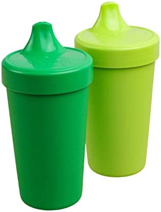 Re Play 2pk 10 oz No Spill Sippy Cups 1 Piece Silicone Easy Clean Valve BPA Free Eco Friendly product image
