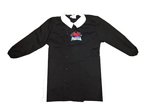 grembiule scuola bimbo con bottoni SPIDERMAN marvel nuona collezione art. G054 (95, nero)