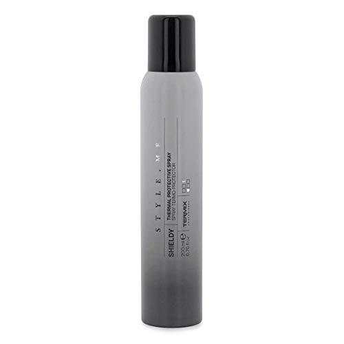 Termix Style.Me Shieldy Spray thermoprotecteur pour les cheveux, protège et nourrit les cheveux avant d'utiliser le fer à lisser, le fer à friser ou le sèche-cheveux, 200ml