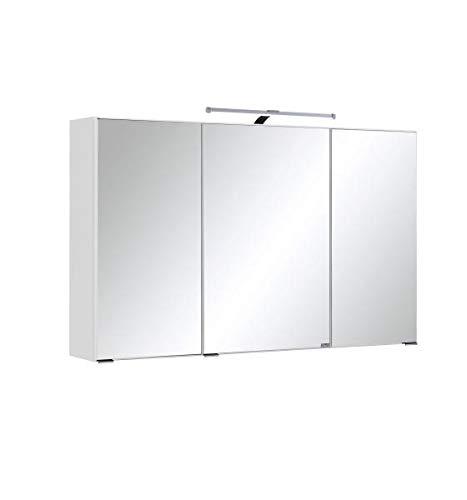 RASANTI Spiegelschrank 100 inkl LED Beleuchtung Florida von Held Möbel Weiß