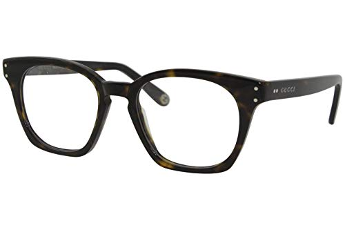 Gucci GG 0572O 007 Havana - Gafas cuadradas (plástico, 50 mm)