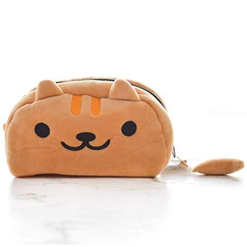 Garderobe Papeterie grande capacité chat crayon coiffe mignon peluche stylo pochette box sac de rangement sac sac de papeterie cadeau fournisseurs cadeaux distributeurs de cadeaux (couleur: gris)
