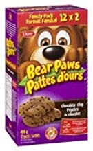 Dare Bear Paws Chocolate Chip Soft Cookies - 480g Family Pack - Peanut Free {Imported from Canada}
