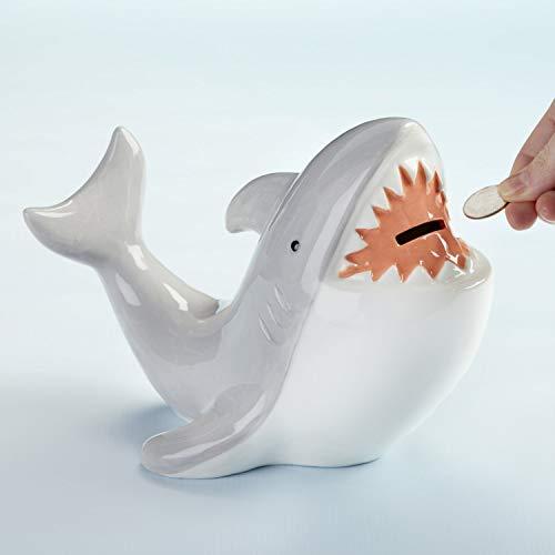 Product Image 5: Baby Aspen Shark Piggie Bank Ceramic Coin Bank