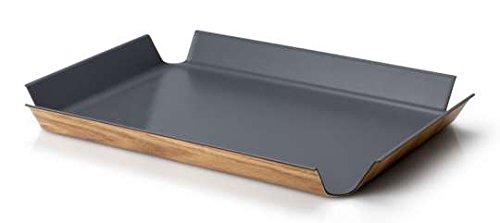 Continenta 2902 - Rutschfestes Tablett - Rechteckig , Grau, 45 x 34 cm