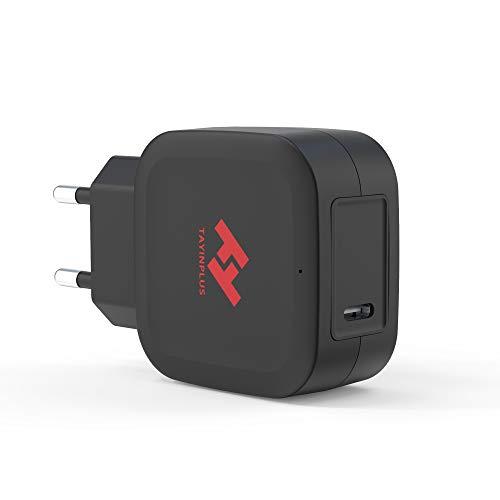 TAYINPLUS USB-C Cargador 20W para Iphone 12,12Pro,12mini,12Pro Max,11,11Pro,11Pro Max,X,XS, XS Max,8,8Plus, Ipad, Samsung Galaxy Google Pixel Smartphone Type-C PD3.0 Fuente de Alimentación Negro