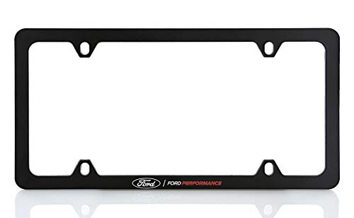 Ford Performance UV Printed Black Plastic Thin Rim License Plate Frame Holder 4 Hole