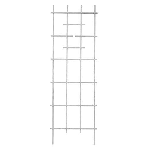 Panacea 83736 72' White Wood Ladder Trellis